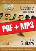 Lecture des notes à la guitare (pdf + mp3)