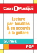 Lecture par tonalités & en accords à la guitare