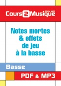 Notes mortes & effets de jeu à la basse
