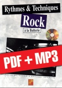 Rythmes & techniques rock à la batterie (pdf + mp3)