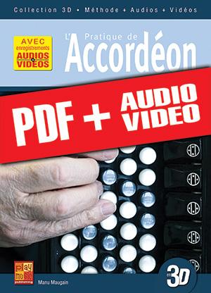 Pratique de l'accordéon en 3D (pdf + mp3 + vidéos)