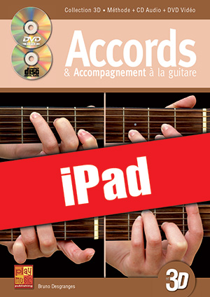 Accords & accompagnement à la guitare en 3D (iPad)