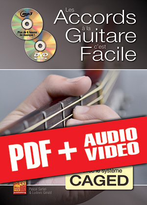 Les accords à la guitare c'est facile... avec le système CAGED (pdf + mp3 + vidéos)