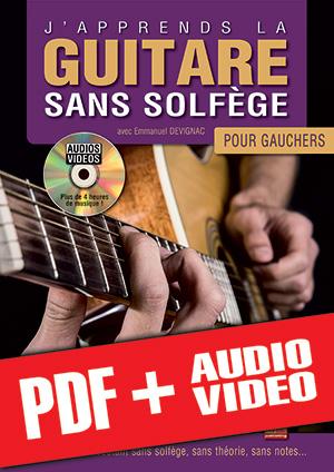J'apprends la guitare sans solfège pour gauchers (pdf + mp3 + vidéos)