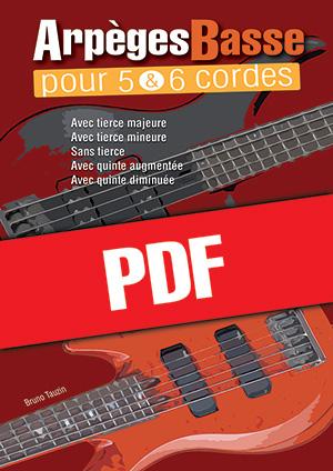 Arpèges Basse pour 5 & 6 cordes (pdf + mp3)