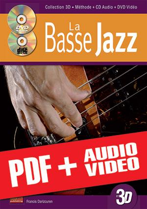 La basse jazz en 3D (pdf + mp3 + vidéos)