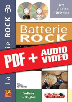 La batterie rock en 3D (pdf + mp3 + vidéos)