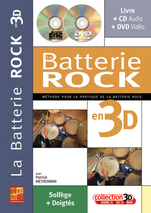 La batterie rock en 3D