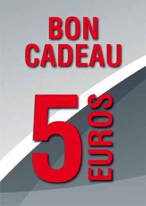 BON CADEAU DE 5 €