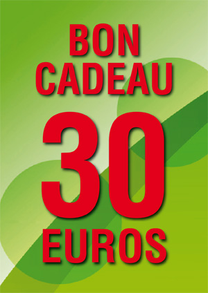 BON CADEAU DE 30 €