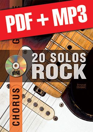 Chorus Guitare - 20 solos de rock (pdf + mp3)