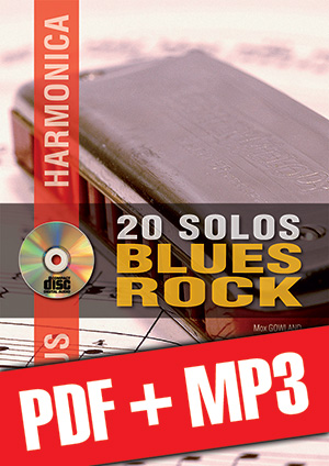 Chorus Harmonica - 20 solos blues/rock (pdf + mp3)