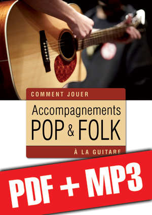 Accompagnements pop & folk à la guitare (pdf + mp3)