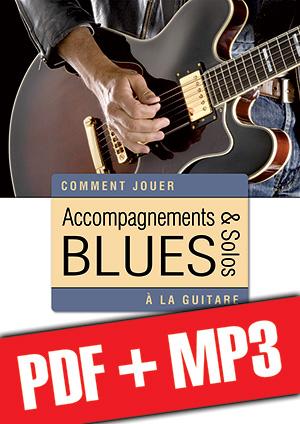 Accompagnements & solos blues à la guitare (pdf + mp3)