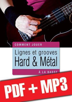 Lignes et grooves hard & métal à la basse (pdf + mp3)