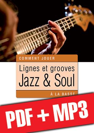Lignes et grooves jazz & soul à la basse (pdf + mp3)