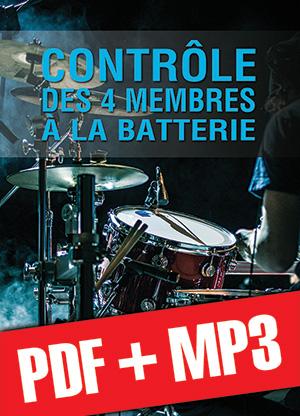Contrôle des 4 membres à la batterie (pdf + mp3)