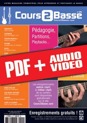 Cours 2 Basse n°29 (pdf + mp3 + vidéos)