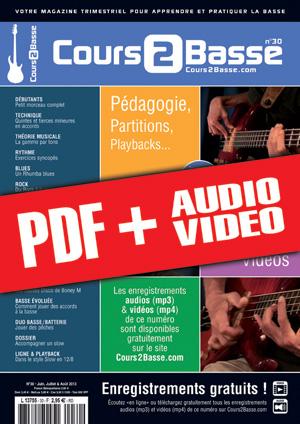 Cours 2 Basse n°30 (pdf + mp3 + vidéos)