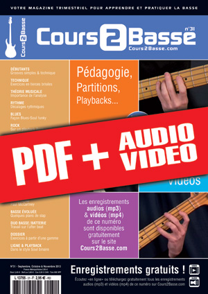 Cours 2 Basse n°31 (pdf + mp3 + vidéos)