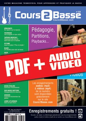 Cours 2 Basse n°33 (pdf + mp3 + vidéos)