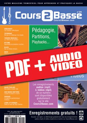 Cours 2 Basse n°34 (pdf + mp3 + vidéos)