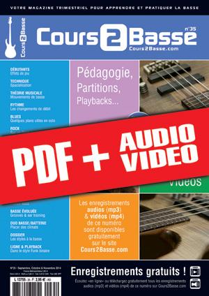 Cours 2 Basse n°35 (pdf + mp3 + vidéos)