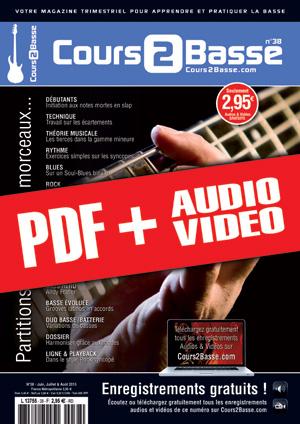 Cours 2 Basse n°38 (pdf + mp3 + vidéos)