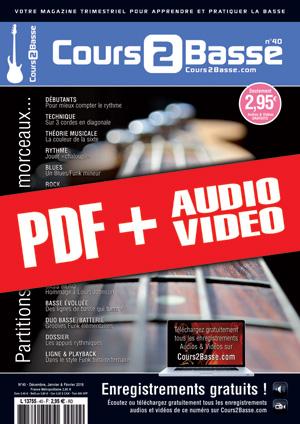Cours 2 Basse n°40 (pdf + mp3 + vidéos)