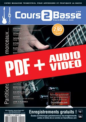 Cours 2 Basse n°44 (pdf + mp3 + vidéos)