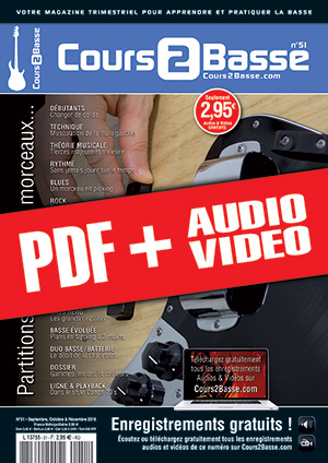 Cours 2 Basse n°51 (pdf + mp3 + vidéos)