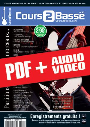 Cours 2 Basse n°53 (pdf + mp3 + vidéos)