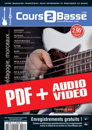 Cours 2 Basse n°55 (pdf + mp3 + vidéos)