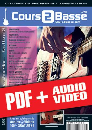 Cours 2 Basse n°56 (pdf + mp3 + vidéos)