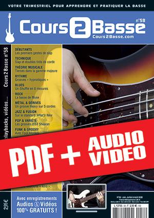 Cours 2 Basse n°58 (pdf + mp3 + vidéos)