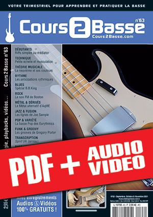 Cours 2 Basse n°63 (pdf + mp3 + vidéos)