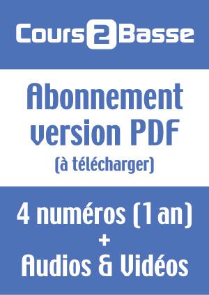 Abonnement Cours 2 Basse (Version PDF)