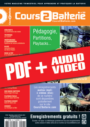 Cours 2 Batterie n°28 (pdf + mp3 + vidéos)