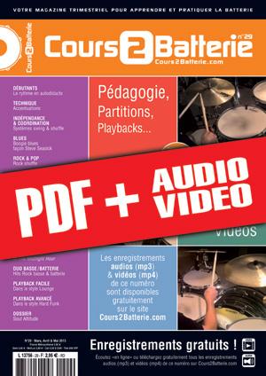 Cours 2 Batterie n°29 (pdf + mp3 + vidéos)