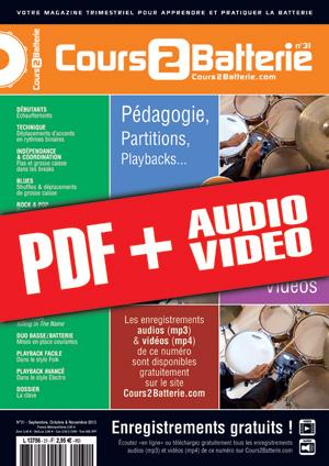 Cours 2 Batterie n°31 (pdf + mp3 + vidéos)