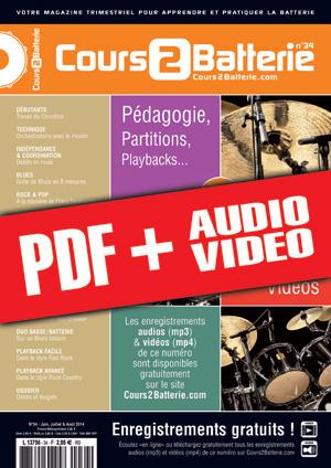 Cours 2 Batterie n°34 (pdf + mp3 + vidéos)