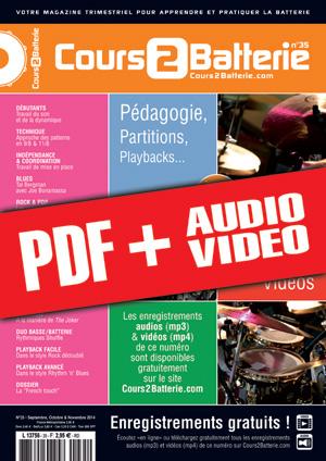 Cours 2 Batterie n°35 (pdf + mp3 + vidéos)