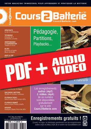 Cours 2 Batterie n°37 (pdf + mp3 + vidéos)