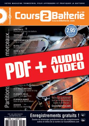 Cours 2 Batterie n°38 (pdf + mp3 + vidéos)