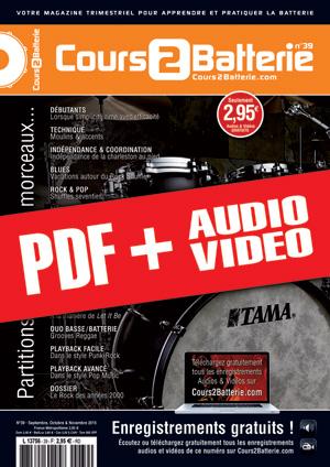 Cours 2 Batterie n°39 (pdf + mp3 + vidéos)