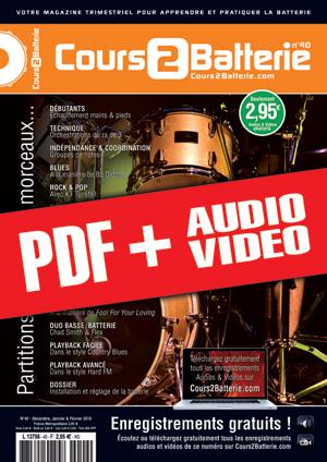 Cours 2 Batterie n°40 (pdf + mp3 + vidéos)