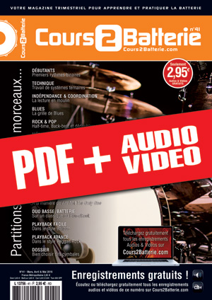 Cours 2 Batterie n°41 (pdf + mp3 + vidéos)