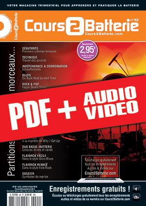 Cours 2 Batterie n°42 (pdf + mp3 + vidéos)
