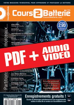 Cours 2 Batterie n°43 (pdf + mp3 + vidéos)