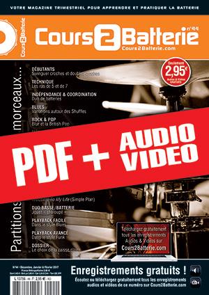 Cours 2 Batterie n°44 (pdf + mp3 + vidéos)